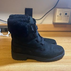 Black waterproof Timberland boots